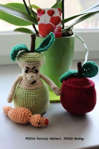 Häkelanleitung Saurer Apfel Pats Funny Pets Wolldesign